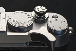 Anodized Black Tri Tadpole Custom Soft Release Button for Fujifilm X100s/X100 X-E2/X-E1 XPRO1 X20/X10 by Lensmate