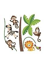 Ambiance Sticker Vinilo Decorativo Happy Animals Of The Jungle