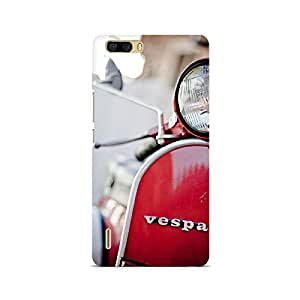 Motivatebox- Vespa Front Premium Printed Case For Huawei Honor 6 Plus -Matte Polycarbonate 3D Hard case Mobile Cell Phone Protective BACK CASE COVER. Hard Shockproof Scratch-
