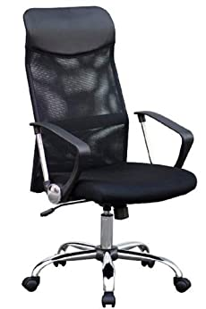 107002 HIGH BACK BLACK MESH ERGONOMIC OFFICE CHAIR