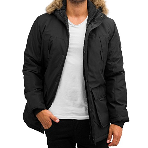 JACK & JONES Jcohollow Parka Jacket, Giacca Uomo, Nero (Black), X-Large