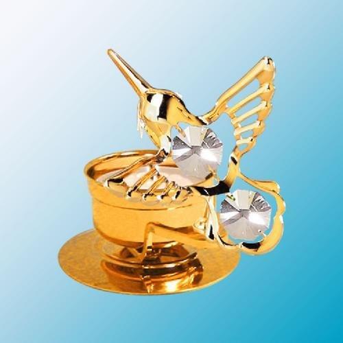 Hummingbird Tea-Light..... With Clear Swarovski Austrian Crystal front-262097