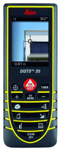 Leica Geosystems Disto D5 Digital Laser Rangefinder with 2.4-Inch Screen and 45-Degree Tilt Sensor