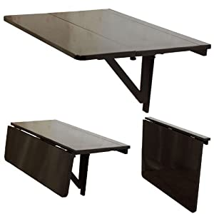 Sobuy fwt02 sch table murale rabattables table de cuisine pliante table r - Table de cuisine ikea pliante ...