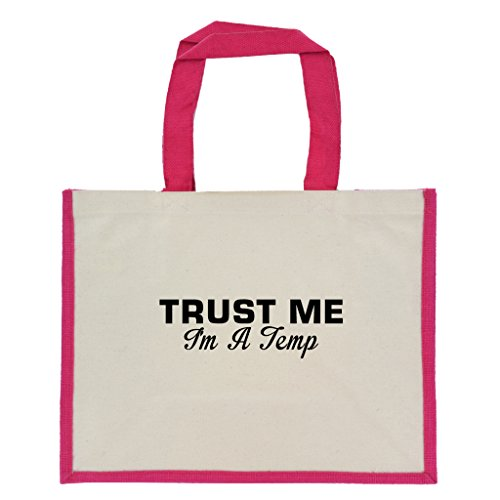 trust-me-im-a-temp-in-black-print-jute-large-shopping-bag-with-pink-handles-and-trim