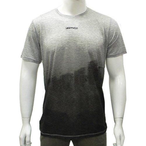 (エンポリオ・アルマーニ)EMPORIO ARMANI J1T33J-J1U8J-999 半袖Tシャツ メンズ グレーグラデーション×ブラック [並行輸入品]