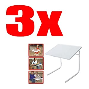 Lot Of 3 Set Table Mate 2 As Seen On Tv Portable Adjustable Tv Dinner Tray Tablemate Ii by OEM
