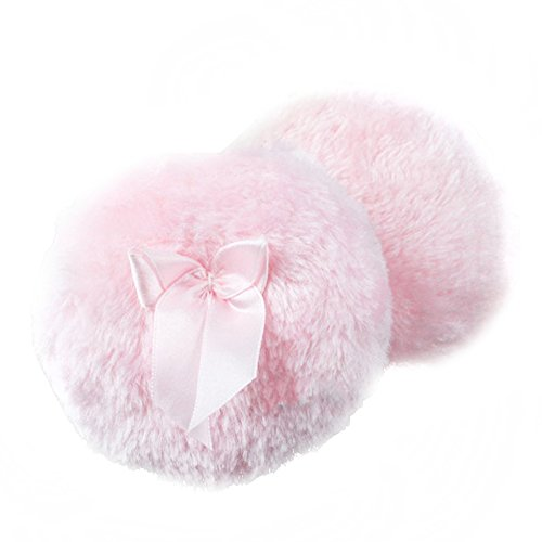 fletion-2-pcs-ultra-soft-plush-baby-fluffy-powder-puff-comfortable-toddler-body-dusting-powder-puffs