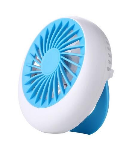 Rechargeable Fan USB Portable Desk Mini Fan for Office USB electric air conditioner small fan Angle Adjustment 1200mA (Blue) (Slimline Air Conditioner compare prices)