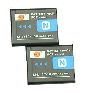 DSTE® アクセサリ NP-BN1 互換 カメラ バッテリー 2個 対応機種 Cyber-shot DSC-W580 W610 WX50 QX100 T110 TF1 TX20 TX30 W330 W350