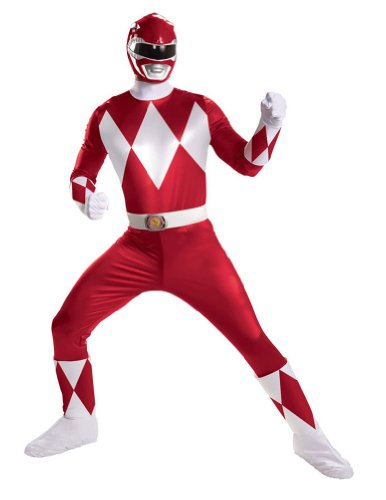 Adult-Costume Red Ranger Super Deluxe Adult Costume Halloween Costume