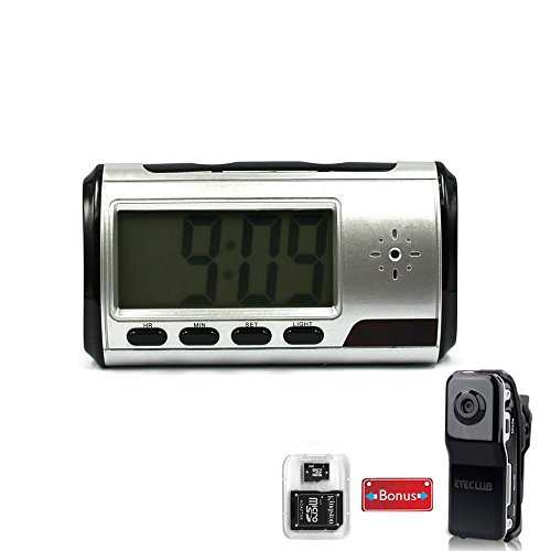 Eyeclub-Hidden-Camera-Spy-Alarm-Clock-Nanny-Cam-with-One-More-Mini-DV-and-8GB-Micro-SD-Card