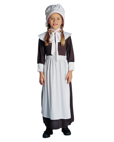 Francoamerican Novelty Company FR49040-S Pilgrim Girl Child Costume Size Small
