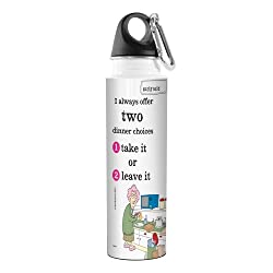 Tree-Free Greetings VB47900 Aunty Acid Artful Traveler Stainless Steel Water Bottle, 18-Ounce, Two Choices