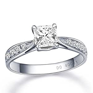 Amazon.com: Fascinating Diamond Wedding Ring 0.50 Carat