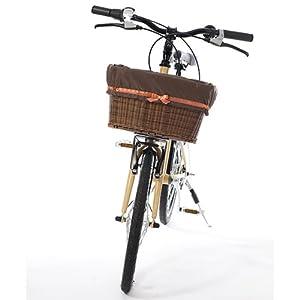 自転車 前かごカバー リボン