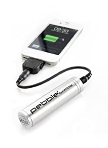 Veho VPP-002-SSS Pebble Smartstick Emergency 2200mAh Portable Battery for iPhone/Blackberry/Samsung/HTC/Nokia (Silver)