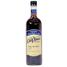 DaVinci SUGAR FREE German Chocolate Cake Syrup w/ Splenda 750 mL