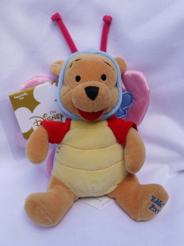 "Disney Mini Bean Bag Butterfly Pooh 8"" (Easter 2000) - 1"