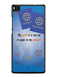 YuBingo Travel the World Mobile Case Back Cover for Huawei P8