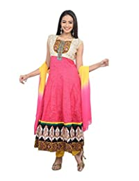 Sareeshut Women's Net Regular Fit Anarkali Suits - B00WQYYDY2