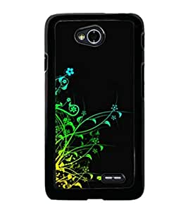 printtech Colorful Vine Abstract Back Case Cover for  LG L70