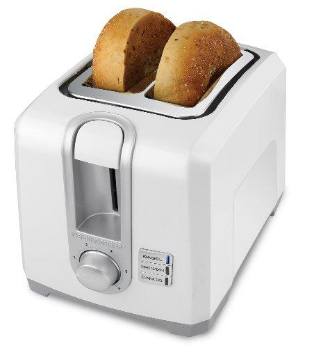 BLACK+DECKER T2569 2-Slice Toaster, Bagel Toaster, White (White Black And Decker Toaster compare prices)