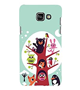 Owl tree Back Case Cover for Samsung Galaxy A7(2016)