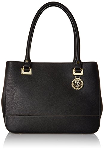 Image of Anne Klein New Recruits Large Satchel Bag, Black, One Size