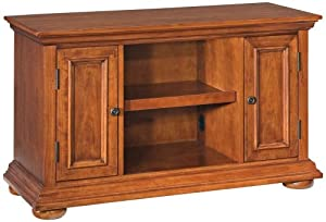 Home Styles 5527-09 Homestead TV Stand, Distressed Nutmeg Finish