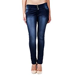 ahhaaaa Blue slim fit denim jeans for Women