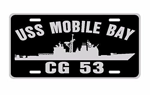 USS MOBILE BAY CG 53 License Plate Aluminum USN