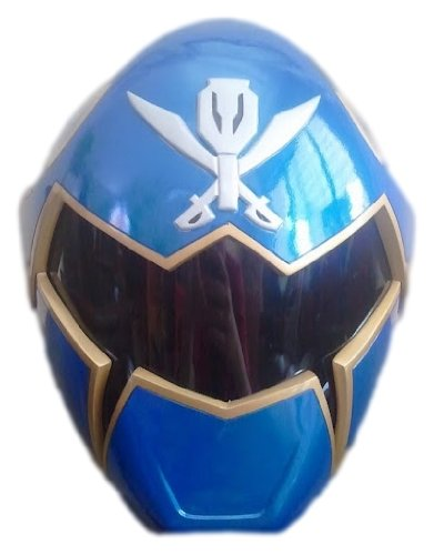 Wearable Blue Mighty Morphin Power Rangers Sentai Gokaiger Helmet Scale 1:1