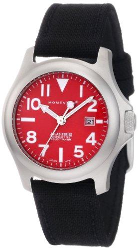 Momentum Atlas TI 1M-SP01R6B - Reloj analógico de cuarzo para mujer, correa de nailon color negro