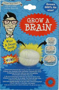 Grow a Brain Grows 600% Its Size Put in Water Birthday Gag - 1