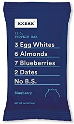 RXBAR Whole Food Protein Bar, Blueberry, 1.83 Ounce (Pack of 12)