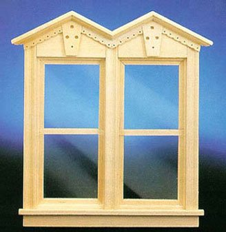 Dollhouse FANCY VICT NONWORKING DOUBLE WINDOW - 1