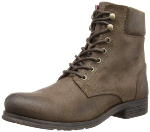 Fly London Mens Owen Boston Combat Boots P142779000 Dark Brown 10 UK, 44 EU