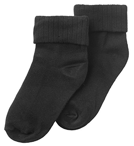 Jrp Baby And Kids Ribbed Single Cuff Secure Fit Ankle Socks - Black (Size 4/5) front-17975