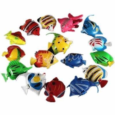 5pcs Vivid Tropical Fish Jellyfish for Aquarium Fish Tank Ornament Decoration