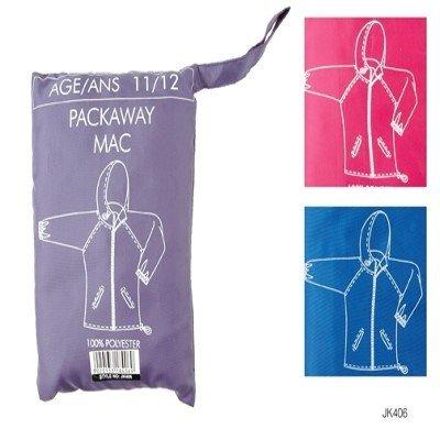 Childrens Packaway showerproof school Mac in Bag