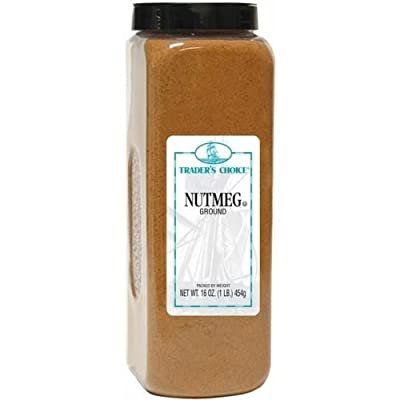 Traders Choice Ground Nutmeg - 16 oz. container, 6 per case from Tone Brothers