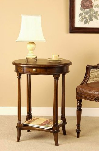 Image of Mahogany End Table - Oval (STBO)