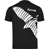 Hayabusa Official MMA Winged Strike T-Shirts/Tee - Black / Medium