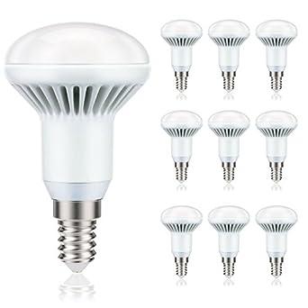 LED Leuchtmittel E14, R50, 5W, entspricht 32W, 350 Lumen, 2700 K, warm-weiß, A+, 230V, Lampe von parlat, 10 Stück Packung