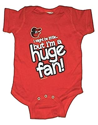 Baltimore Orioles Huge Fan MLB Newborn Baby Creeper USA Printed