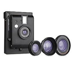 Lomography li800b Instant Camera + 3 Lenses Black Edition