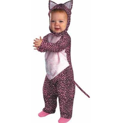 [Pink Leopard Costume Baby] (Kitty Newborn Baby Costumes)