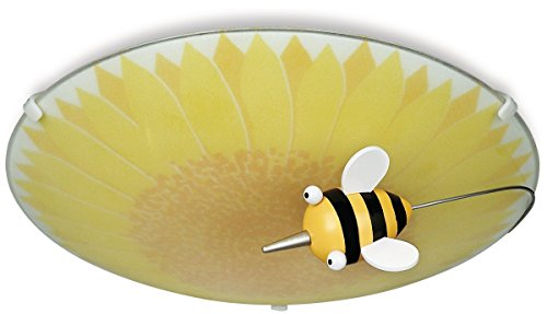 Philips 30111/55/48 Kidsplace Floral And Bumble Bee Ceiling Light, Multi-Colored
