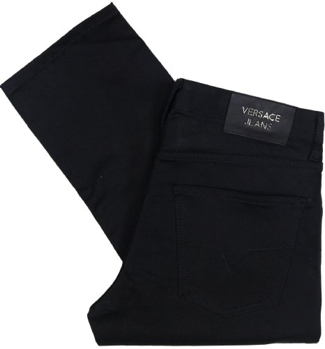 Versace Jeans Men's Black Regular Fit Stretch Jeans (30)